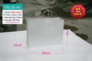 Túi kraft trắng ngang