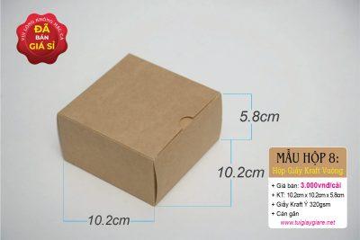 Hộp giấy kraft vuông