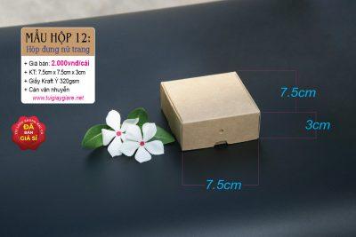 hộp giấy đựng hoa tai handmade