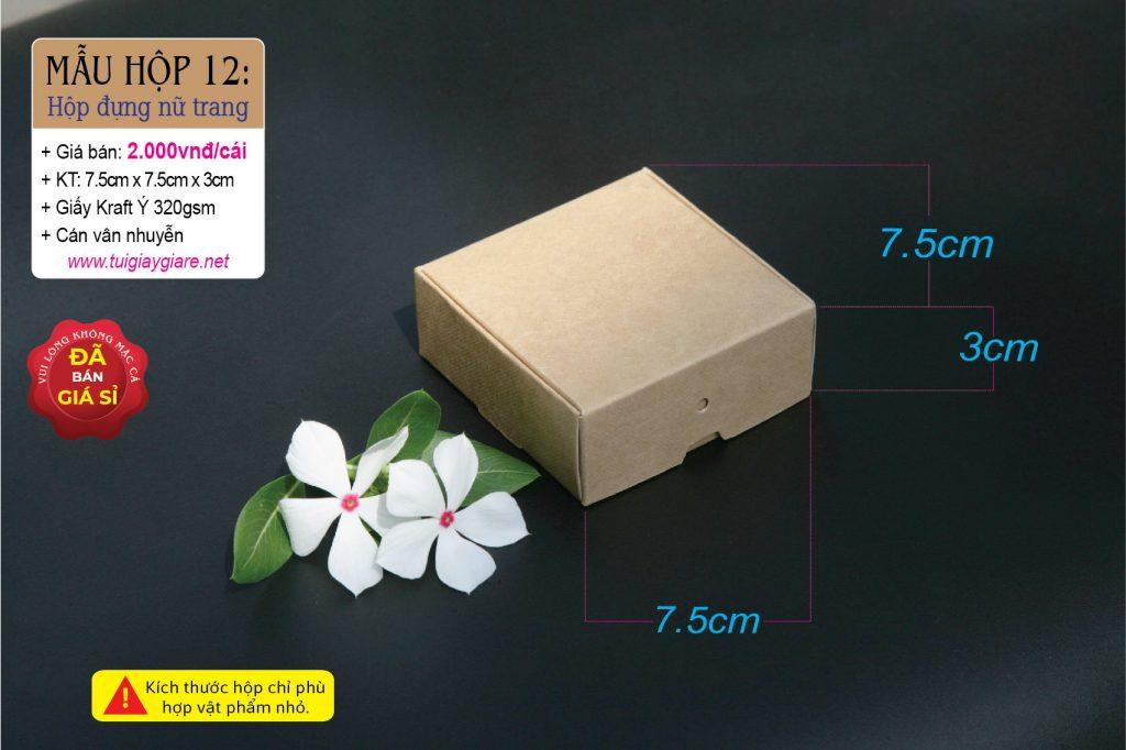 Hộp giấy kraft đựng hoa tai