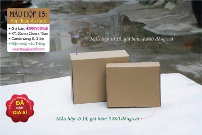 Hộp giấy carton đựng Quần áo